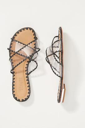 Schutz Aya Slide Sandals By in Black Size 7