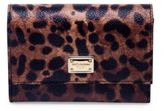 Dolce & Gabbana Leopard-Print Leather French Flap Wallet