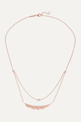 Stephen Webster + Net Sustain Magnipheasant 18-karat Rose Gold Diamond Necklace - one size