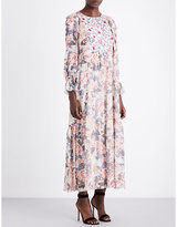 See by Chloe Floral-print chiffon maxi dress