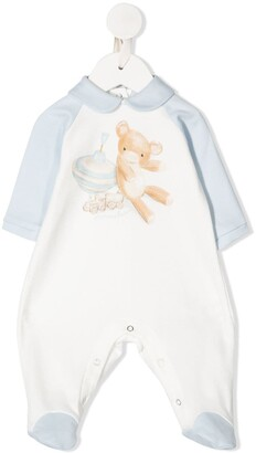 MonnaLisa Teddybear-Print Pajamas