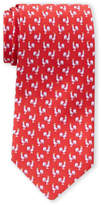 Salvatore Ferragamo Silk Red Rooster Print Tie