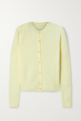 The Row Annamaria Cashmere Cardigan - Pastel yellow