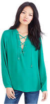 True Religion Lace Up Womens Shirt