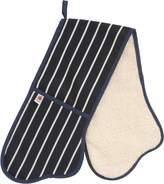 C'est Ca Butchers Stripe Double Oven Glove, Navy and White Stripe