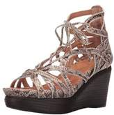 Gentle Souls Womens Joy Ghillie Open Toe Casual Platform Sandals.
