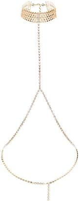 Alessandra Rich Crystal Body Chain