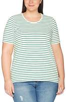 Ulla Popken Women's Ringelshirt Mit Halbarm T-Shirt