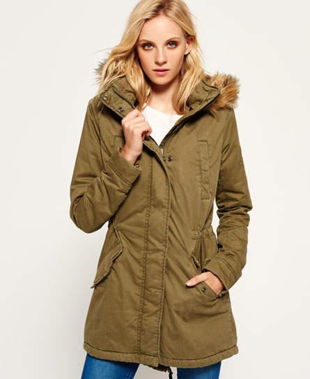Superdry Fur Hooded Winter Rookie Military Parka Jacket