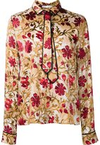 Alice + Olivia Alice+Olivia - 'Medieval Floral' shirt - women - Silk/Nylon/Polyester/Viscose - M