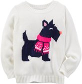 Carter's Dog Print Sweater - Ivory - 4T
