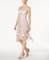 Rachel Roy Floral-Embroidered Strapless Dress