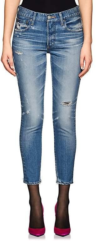 Moussy Women's Velma Distressed Skinny Jeans