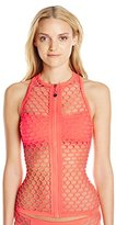 Seafolly Women's Mesh About Zip-Front Tankini