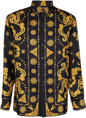 Versace Multicolor Silk Shirt