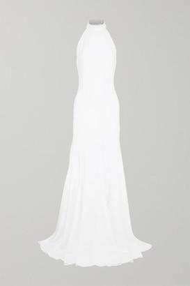 Stella McCartney Stretch-crepe Halterneck Gown - White