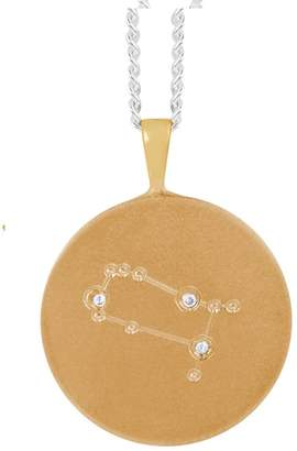 Harry Rocks Gold Frosted Gemini Constellation With Diamonds Necklace