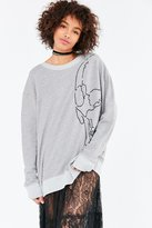 Truly Madly Deeply Embroidered Skull Sweatshirt
