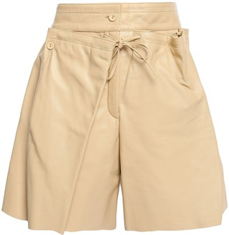Joseph Layered Leather Shorts
