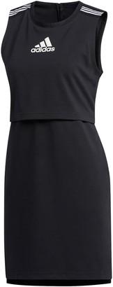 adidas Logo Sleeveless Sheath Dress