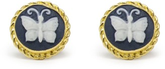 Vintouch Italy Butterfly Cameo Stud Earrings