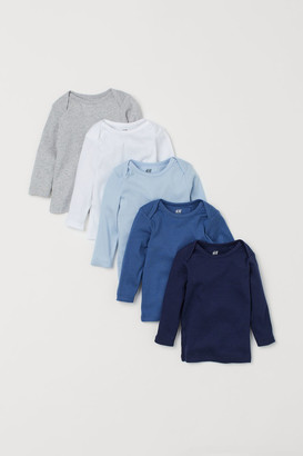 H&M 5-pack Jersey Shirts - Blue