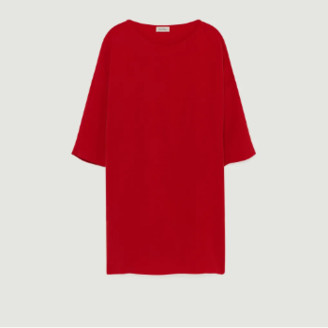 American Vintage Short Red Cupro and Stretch Viscose United Babarum Dress - Cupro   red   small - Red/Red
