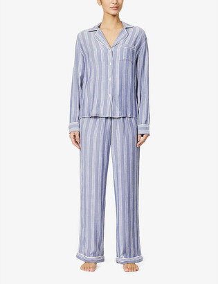Rails Clara striped woven pyjama set