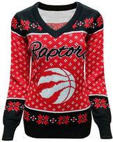 Klew Toronto Raptors Ugly V-Neck Sweater