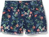 Old Navy Floral Denim Cut-Off Shorts for Girls
