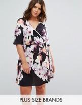 Pink Clove Wrap Floral Dress