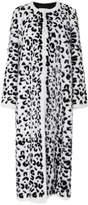 Carolina Herrera Leopard Intarsia Fur Coat