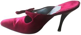 Salvatore Ferragamo Burgundy Velvet Heels