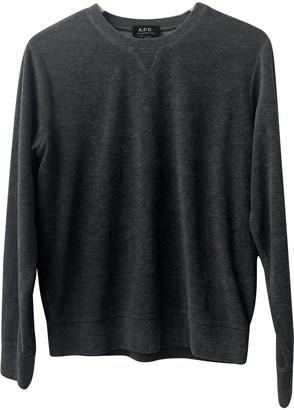 A.P.C. Grey Polyester Knitwear & Sweatshirts