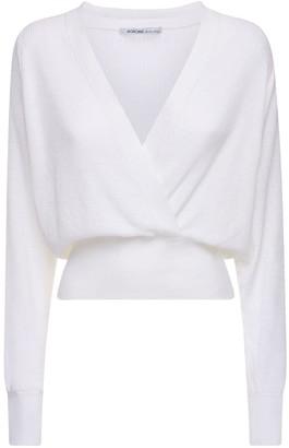 Agnona Linen Blend Wrap Style Top