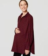 LOFT Maternity Filigree Modern Henley Blouse