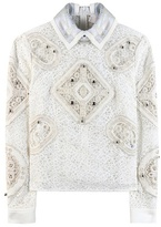 Peter Pilotto Tundra Embellished Crochet Lace Top