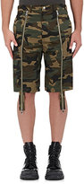 Hood by Air Men's Camouflage Layered Shorts-GREEN