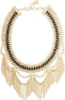 BCBGMAXAZRIA Woven Chain Fringe Necklace
