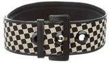 Etro Checkered Waist Belt
