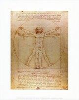 Leonardo Poster Revolution Vitruvian Man, c.1492 Art Poster Print by da Vinci, 11x14