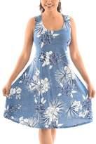 Shoreline Women's Casual Dresses BLUE - Blue Floral Sleeveless A-Line Dress - Women & Plus