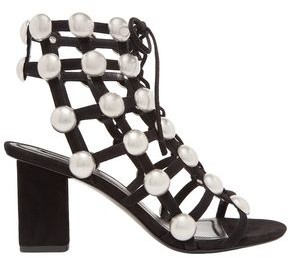 Alexander Wang Rainey Studded Caged Suede Sandals
