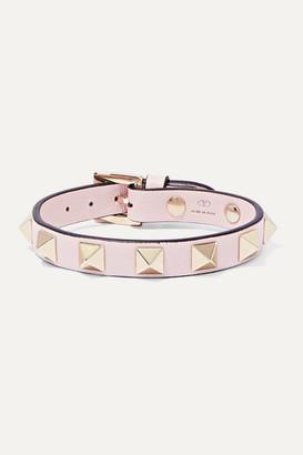 Valentino The Rockstud Leather Bracelet