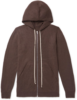Rick Owens Oversized Boiled Cashmere Hoodie