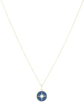 Sydney Evan Starburst 14kt yellow gold necklace