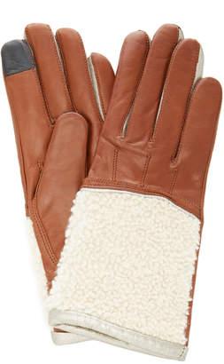 Maison Fabre Shearling Cuff Lambskin Gloves