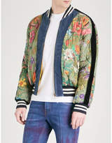 Gucci Floral-print Quilted Satin Bomber Jacket