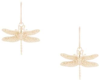 Karen Walker Dragonfly Sleepers hoop earrings