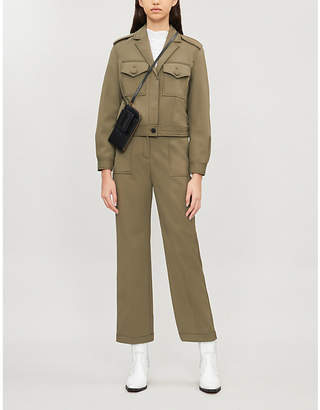Claudie Pierlot Cropped woven jacket
